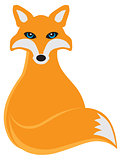 Fox Sitting Illustration