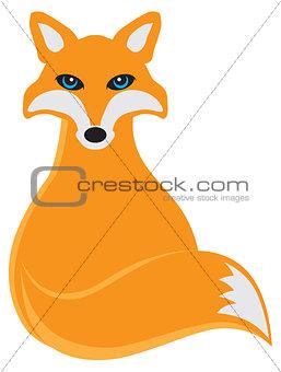 Fox Sitting Illustration
