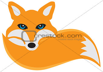 Fox with Tail Illustration