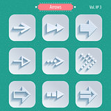 Set of Arrow Sign Icons