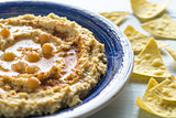 Hummus with tortilla chips