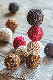 Colorful belgian truffles