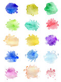 Watercolor blots for design