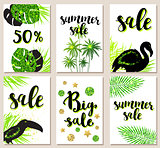 Tropical cards for seasonal sale