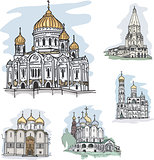 Famous churches and cathedrals in Mosocw, Russia