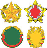 Belarus emblematic and heraldic templates
