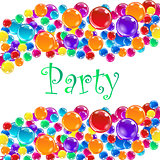 Party balloons with confetti