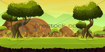Forest and Stones game background