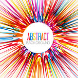 Colorful abstract burst
