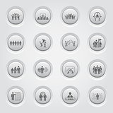 Button Design Business Team Icons Set.
