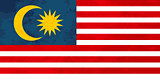 True proportions Malaysia flag with texture
