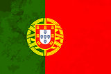 True proportions Portugal flag with texture