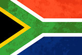 True proportions South Africa flag with texture