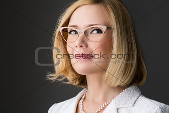 Beautiful woman in glasses