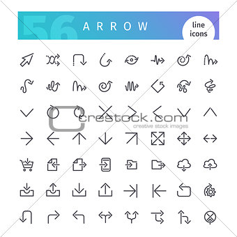 Arrow Line Icons Set