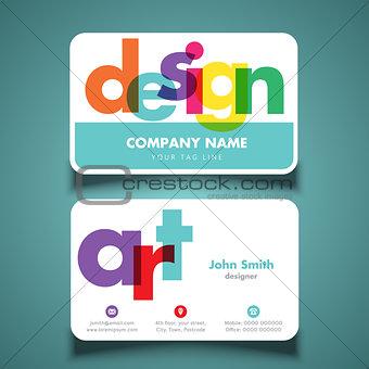 Business card for artist or designer