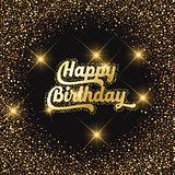 Happy birthday glitter background