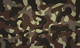 Army Camouflage Pattern Khaki Color. Vector Illustration.
