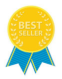 Gold Label Best Seller. Vector Illustration