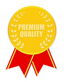 Gold Label Premium Quality. Vector Illustration