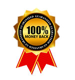 Gold Label 100 Money back. Vector Illustration