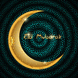 Vector Illustration of Beautiful Greeting Card Design  Eid Mubar