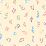 Vector seamless diamonds pattern