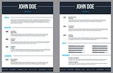 Simplistic modern resume cv with stripes