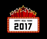 New Year marquee 2017