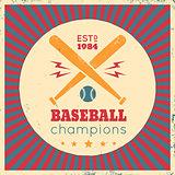 Logo for baseball