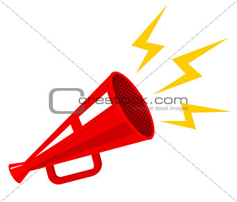 poster with megaphone