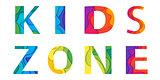 Kids area vector lettering