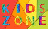 Kids room vector lettering