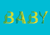 Baby word vector illustration