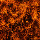 Background of fire. A continuous