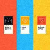 Line Business Office Patterns Set