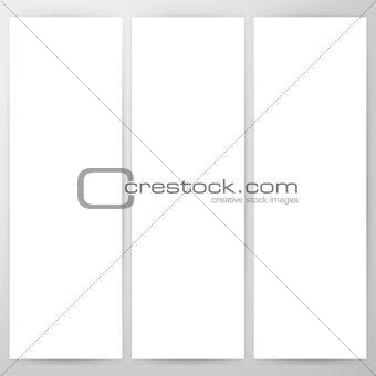 Three Blank Flyer Mockup Template
