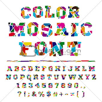 Broken colored alphabet on a light background