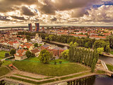 Klaipeda, Lithuania: representative aerial view of Old Town