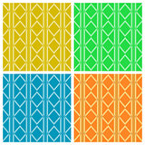 Geometric colorful patterns. Set