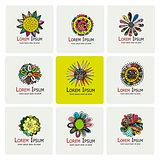 Floral logo set for your design