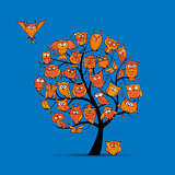 Owl tree for your design