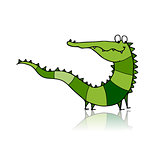 Funny crocodile for your design