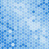 blue hexagons background
