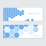 blue hexagons cards
