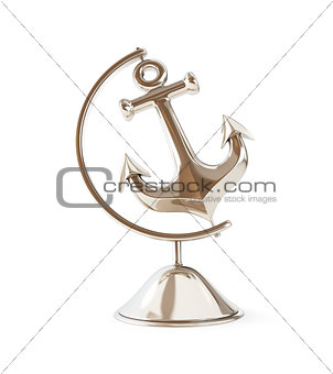 old anchor globe 3d Illustrations on a white background
