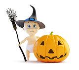 baby halloween pumpkin