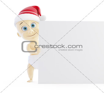baby santa hat form on a white background