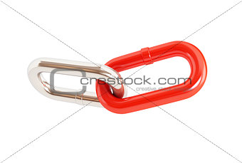 chain links on a white background