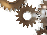 gears abstract background on a white background